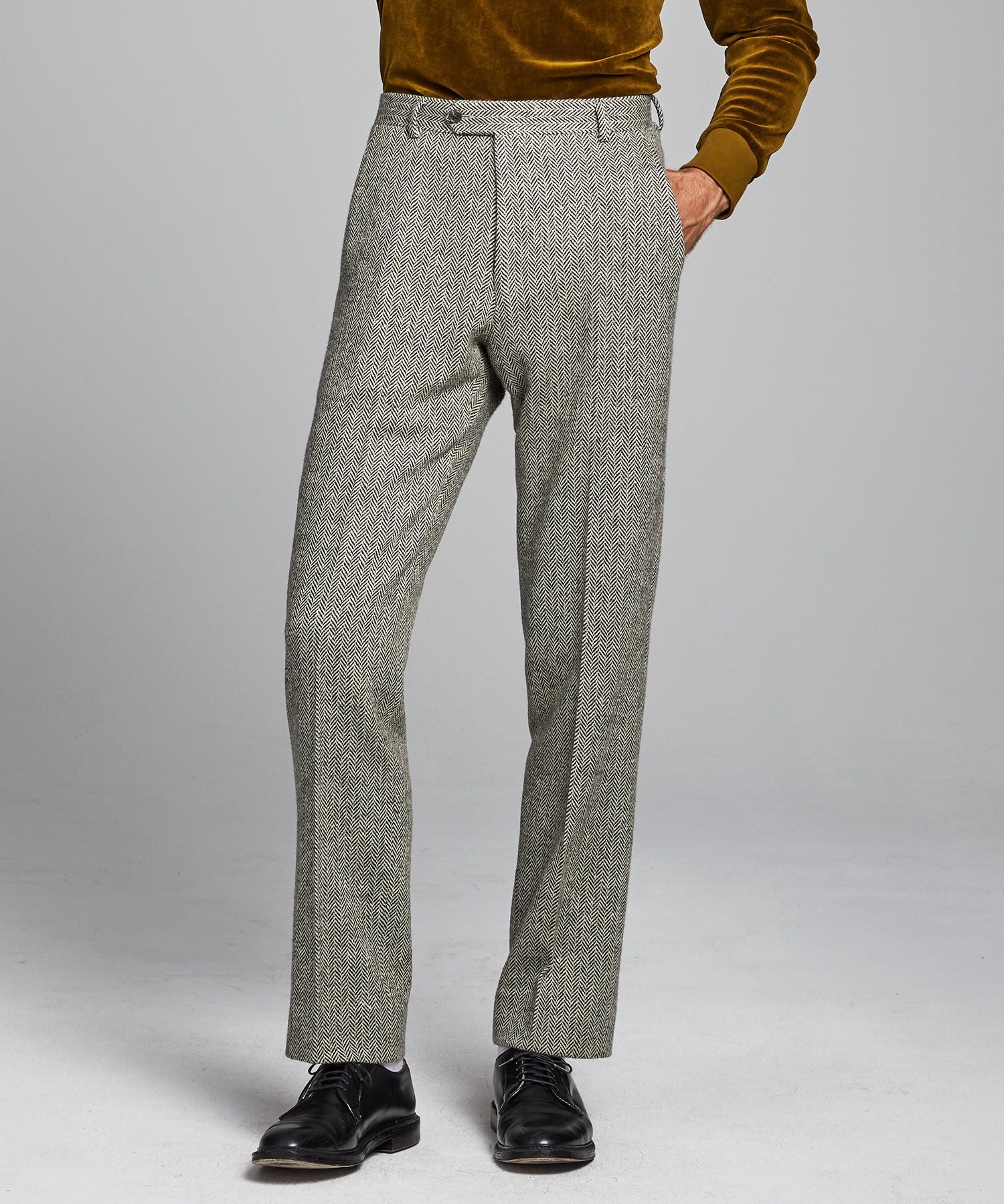 Herringbone Sack Suit Trouser
