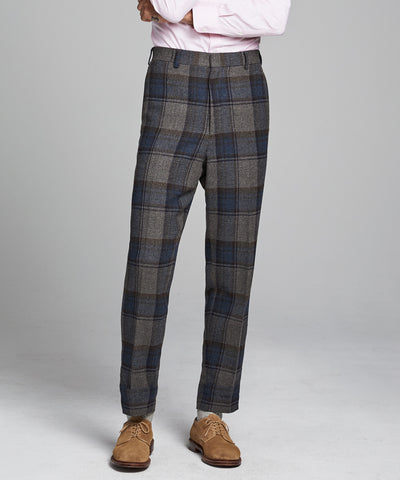 Oversized Check Sack Suit Pant in Charcoal