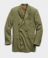 Sutton Double Breasted Seersucker Suit Jacket in Olive