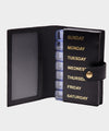 Ettinger Weekly Pill Case in Black