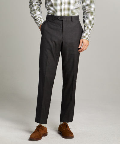 Sutton Stretch Tropical Wool Suit Trouser In Dark Charcoal