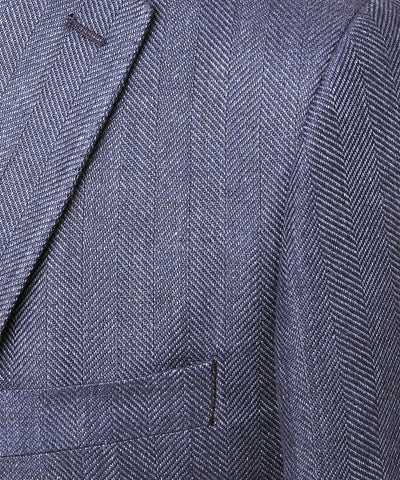 Linen Herringbone Sutton Sport Coat in Navy