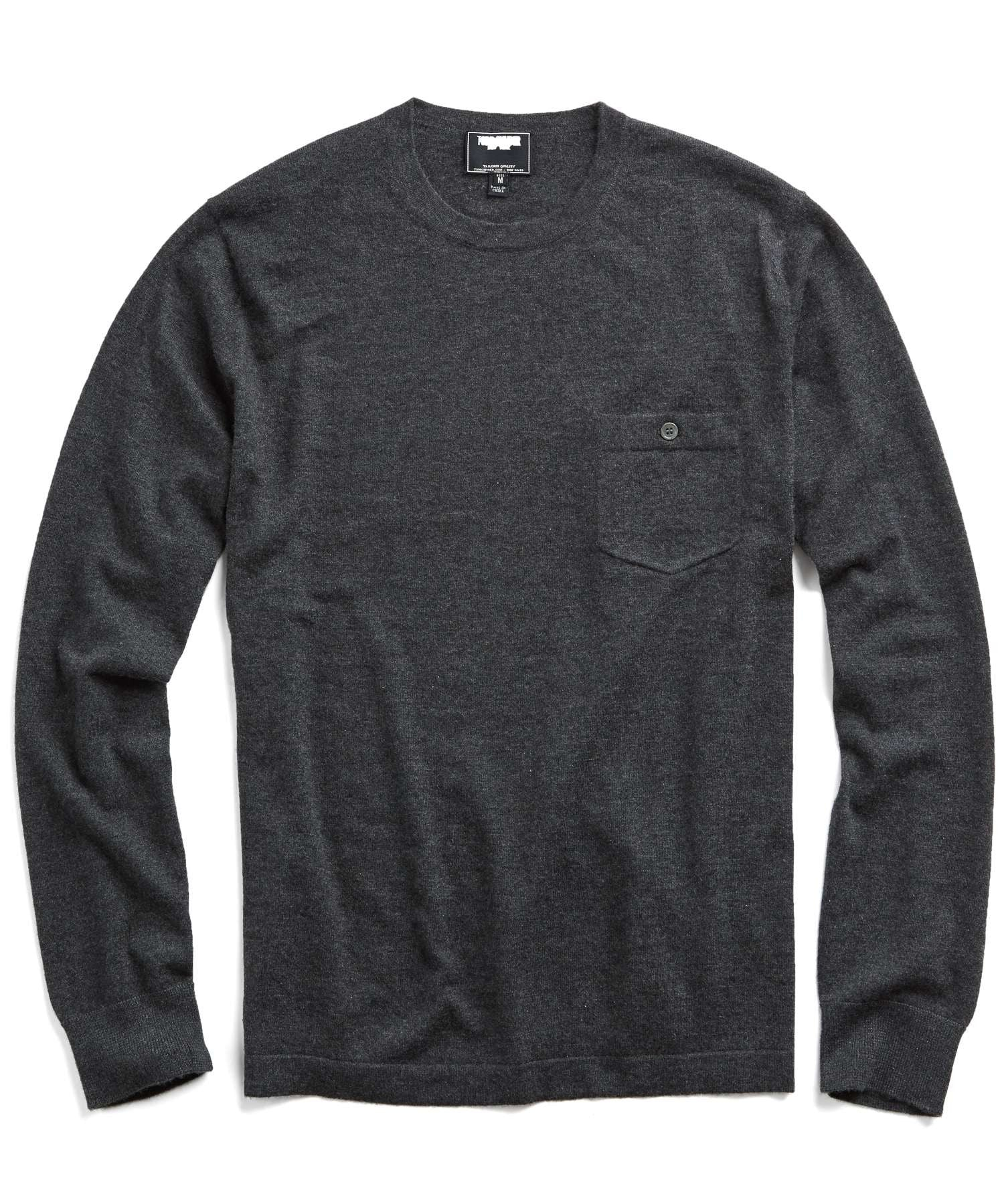Cashmere T-Shirt Sweater in Charcoal