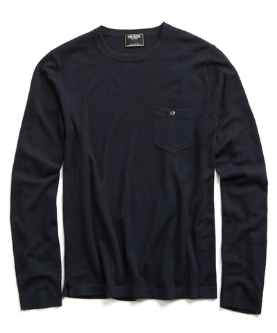 Cashmere T-Shirt Sweater in Navy