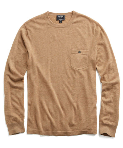 Cashmere T-Shirt Sweater in Camel