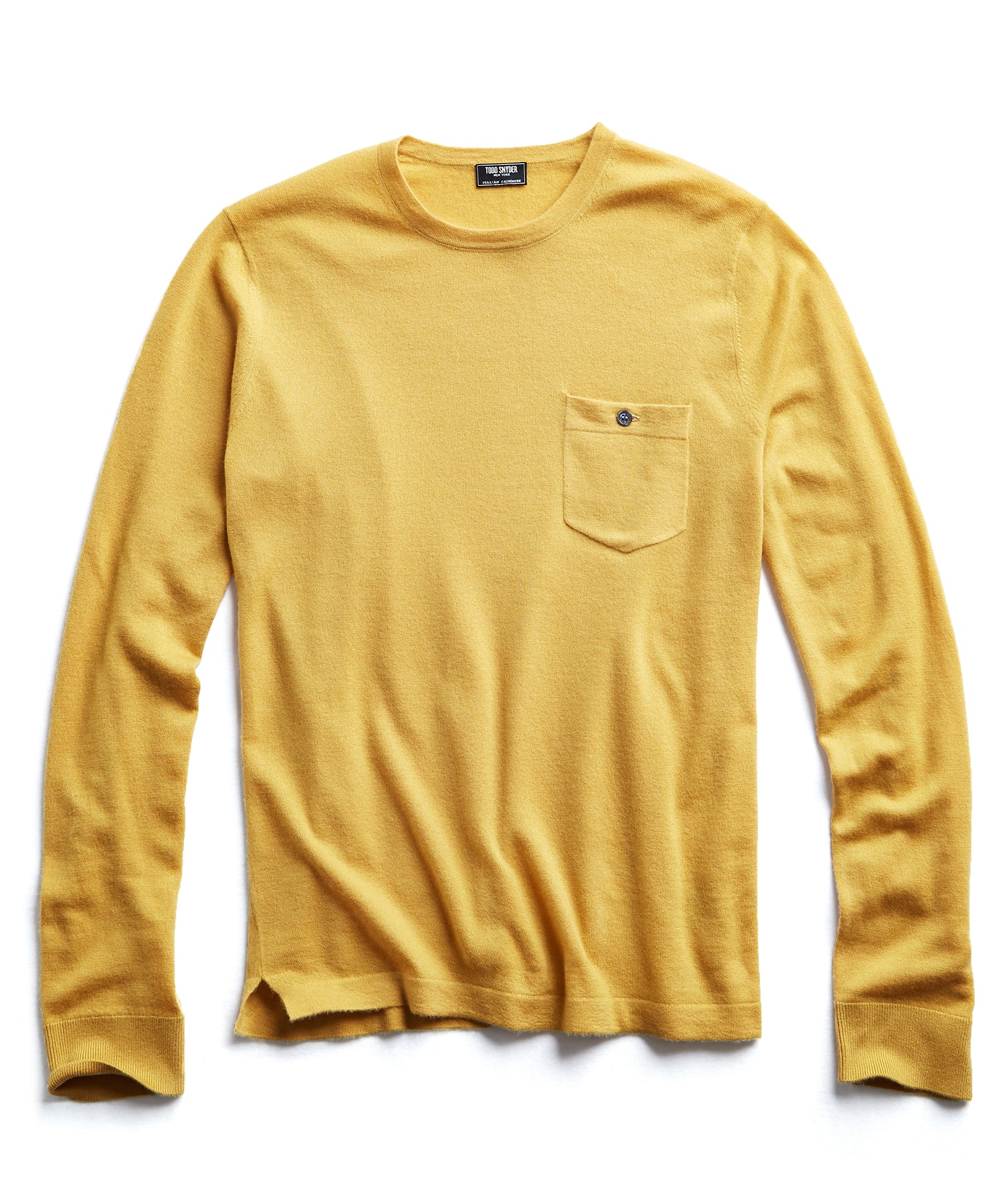 Cashmere T-Shirt in Marigold