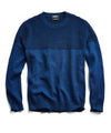 Italian Cotton Textured Crewneck Sweater in Royal