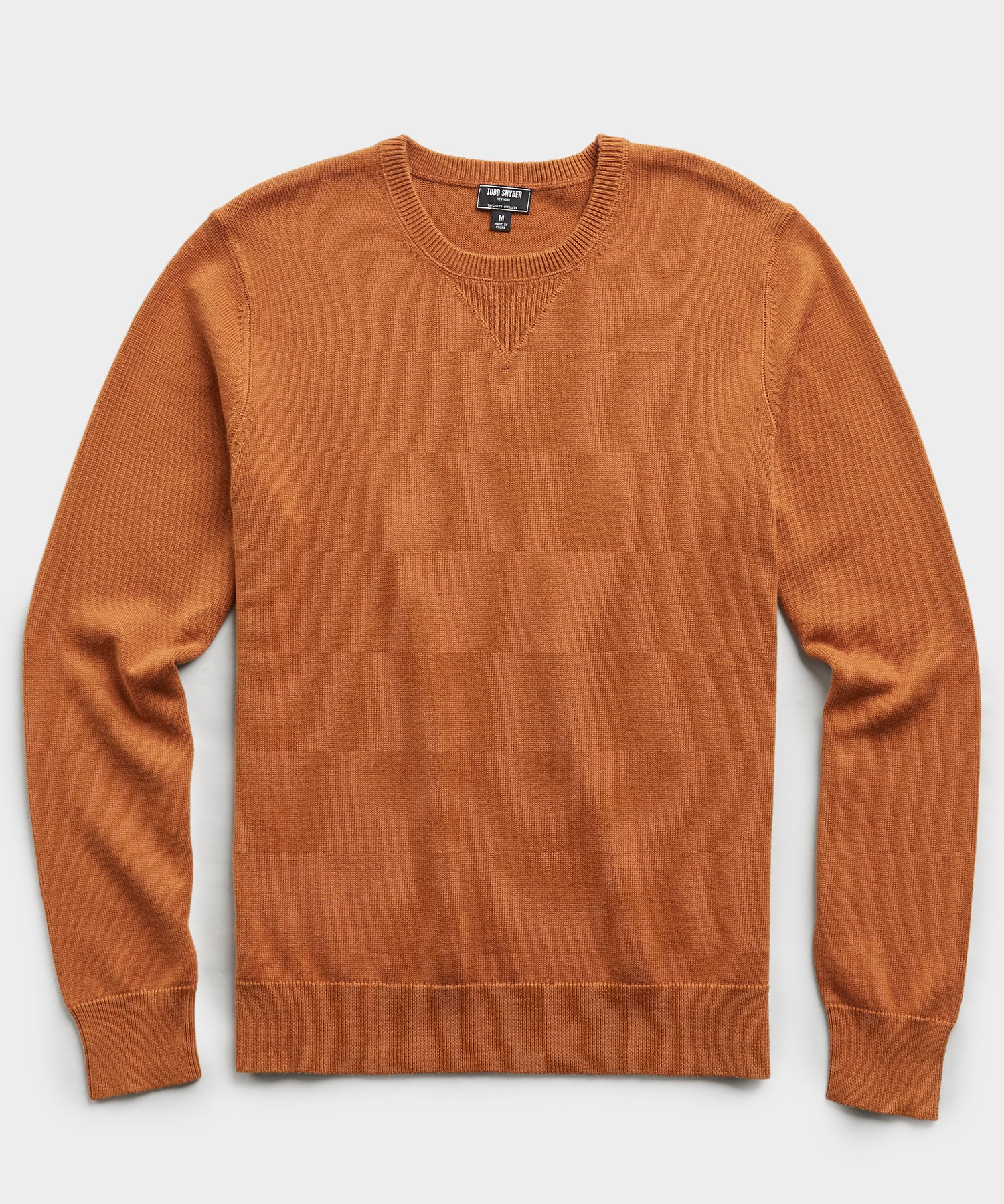 Cotton Cashmere Sweater in Chestnut