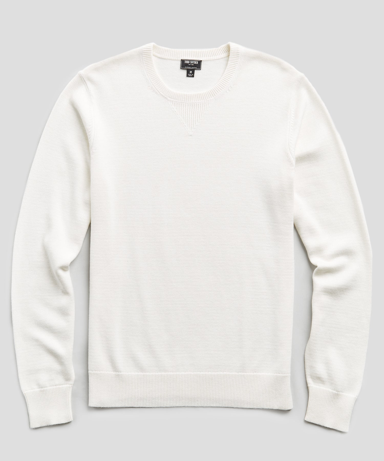 Cotton Cashmere Sweater in Ivory