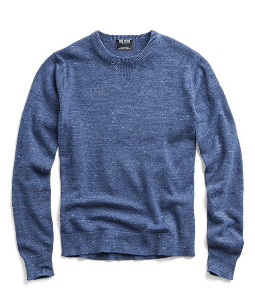 Cotton Cashmere Spaced Dyed Sweater in Blue