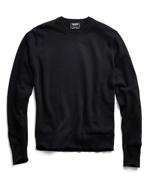 Cotton Cashmere Sweater in Black