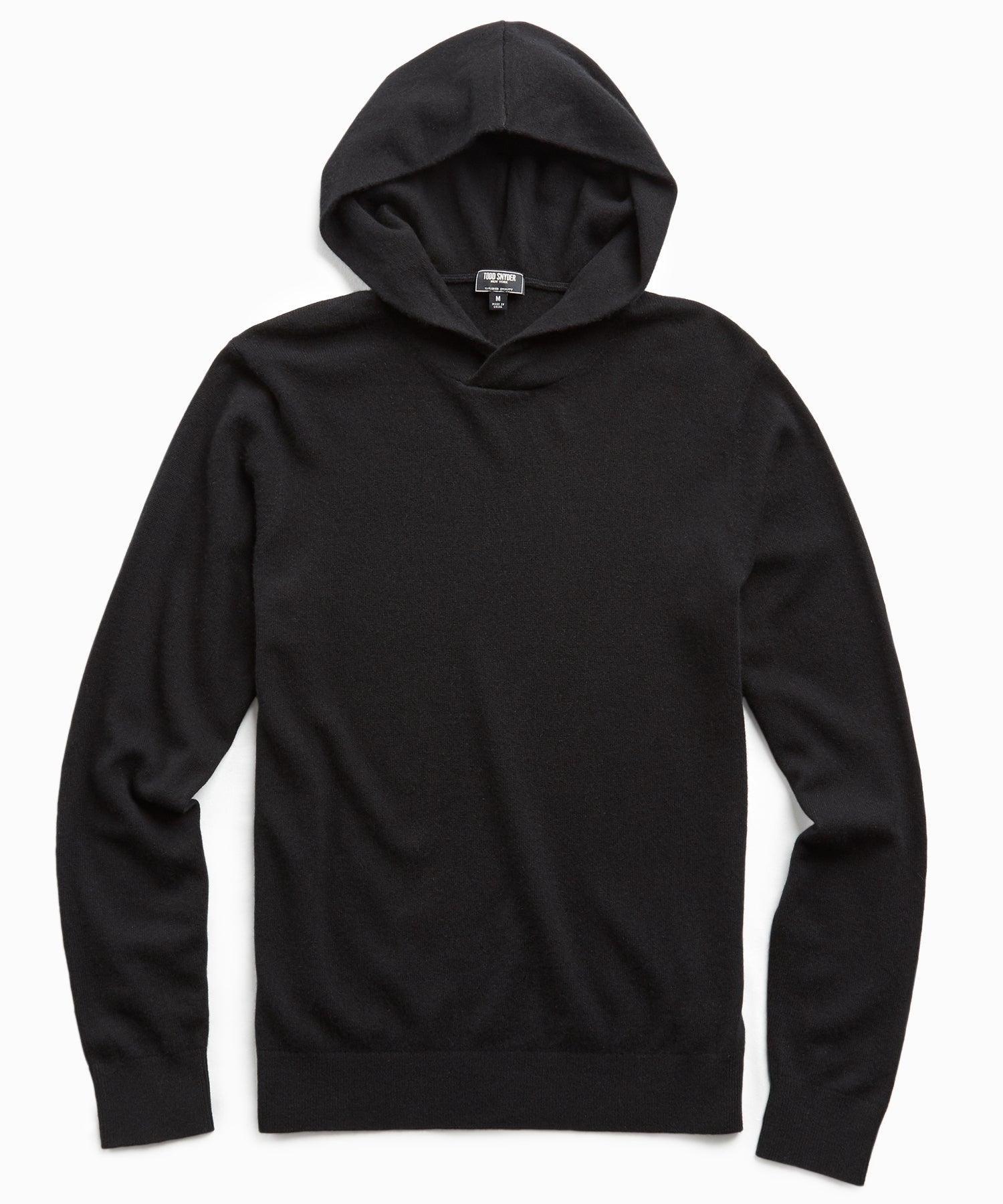 Cashmere Hoodie in Black