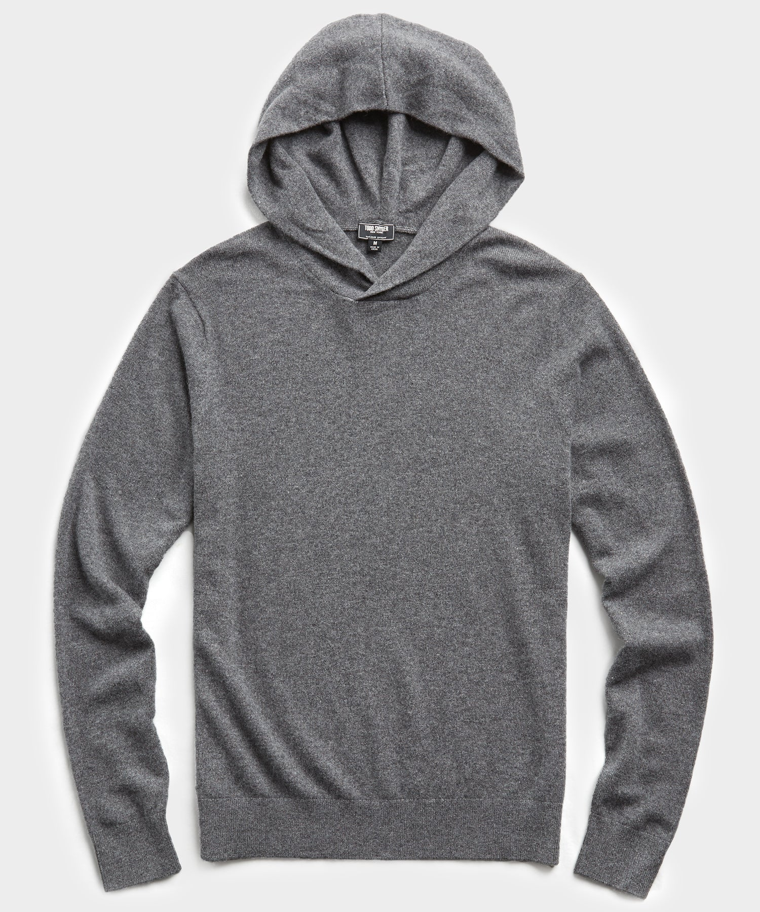 Cashmere Hoodie in Charcoal