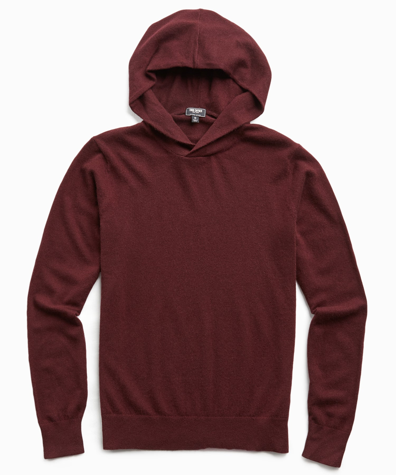 Cashmere Hoodie in Burgundy