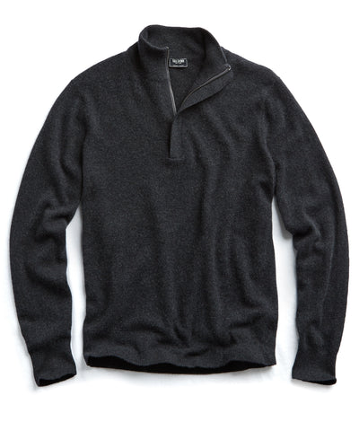 Cashmere Half-zip in Grey