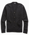 Italian Merino Cardigan in Black