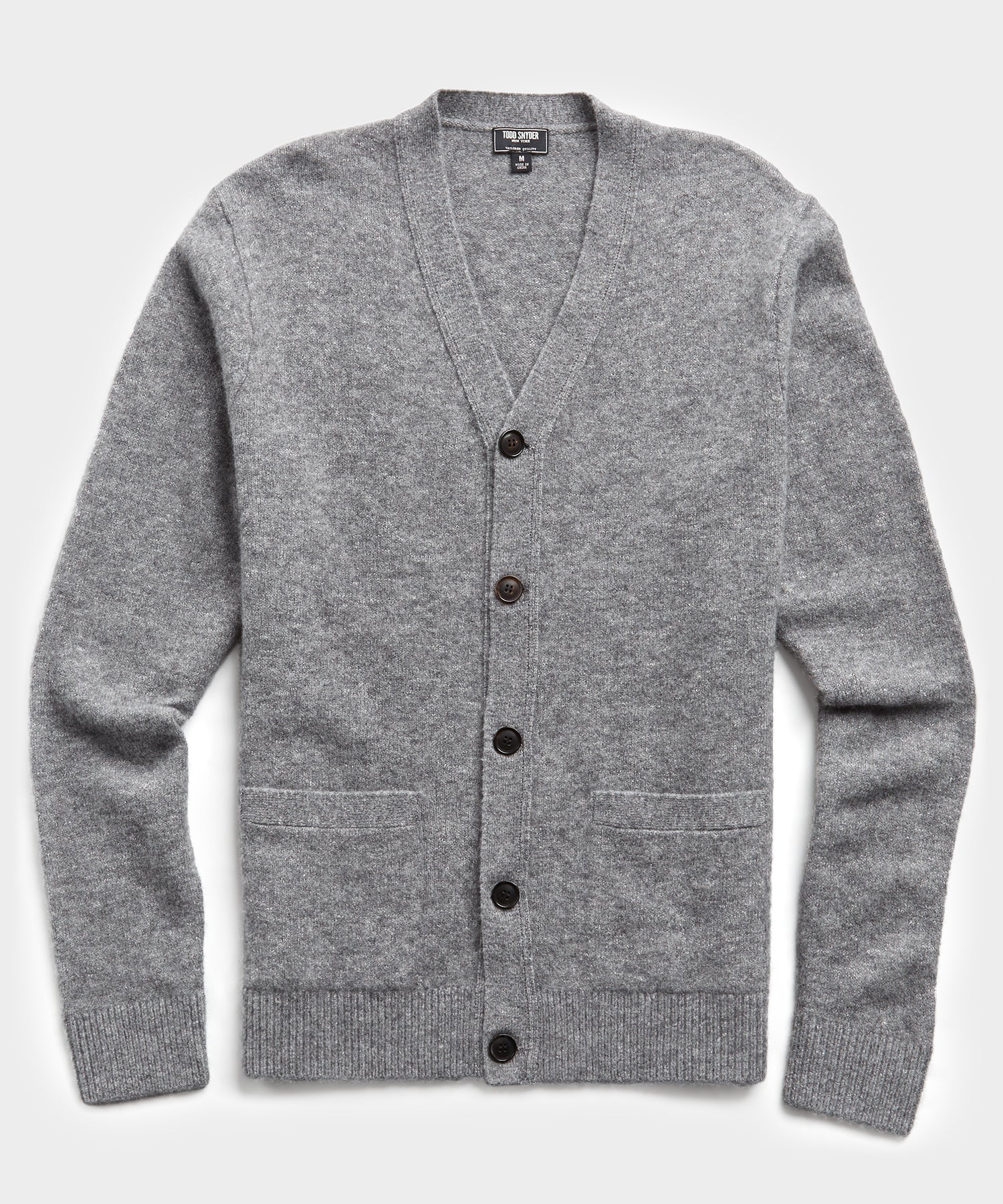 Italian Merino Cardigan in Grey