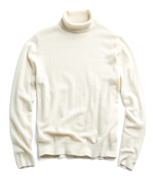 Cashmere Turtleneck in Ivory