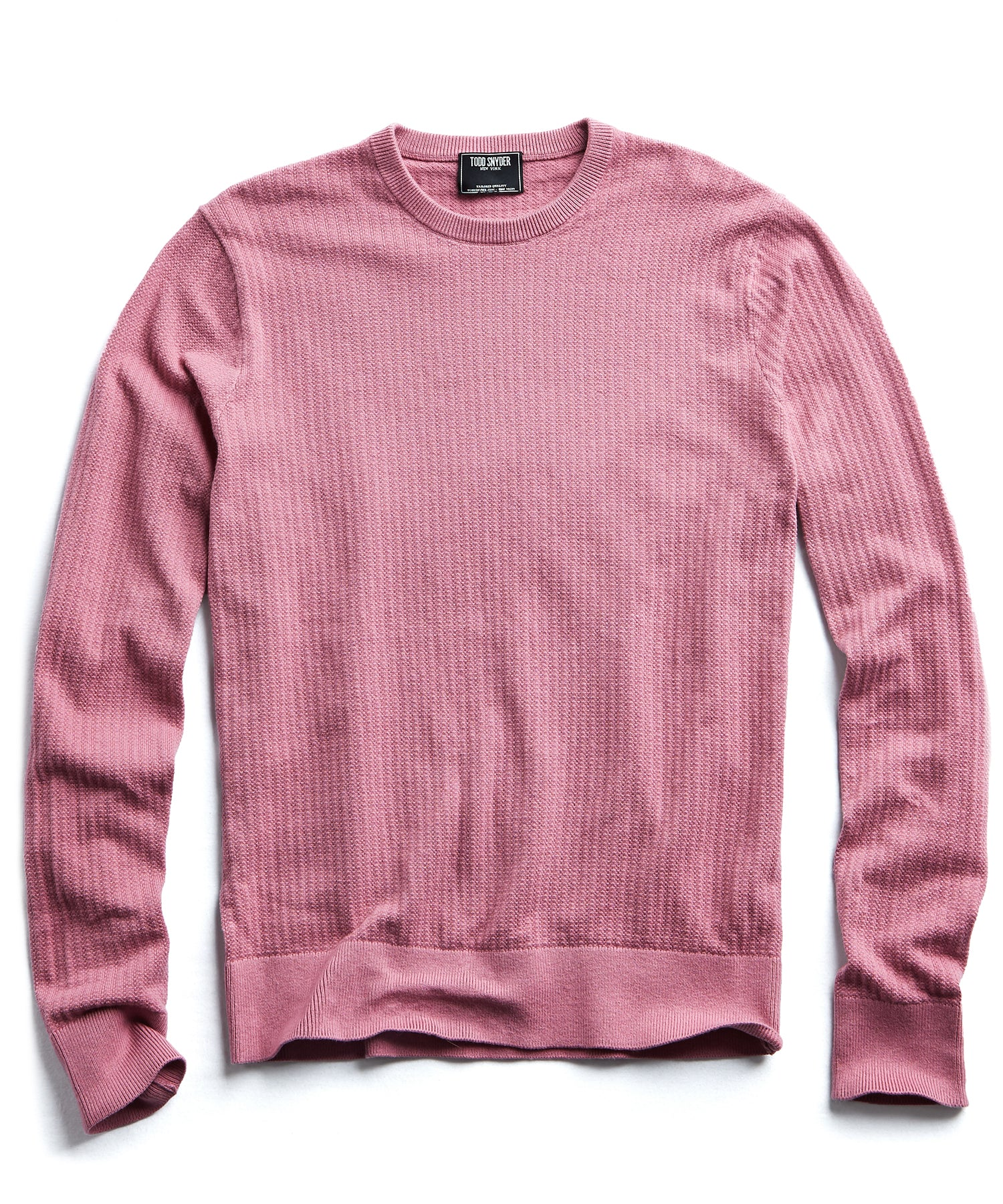 Cotton Crew Neck in Mauve