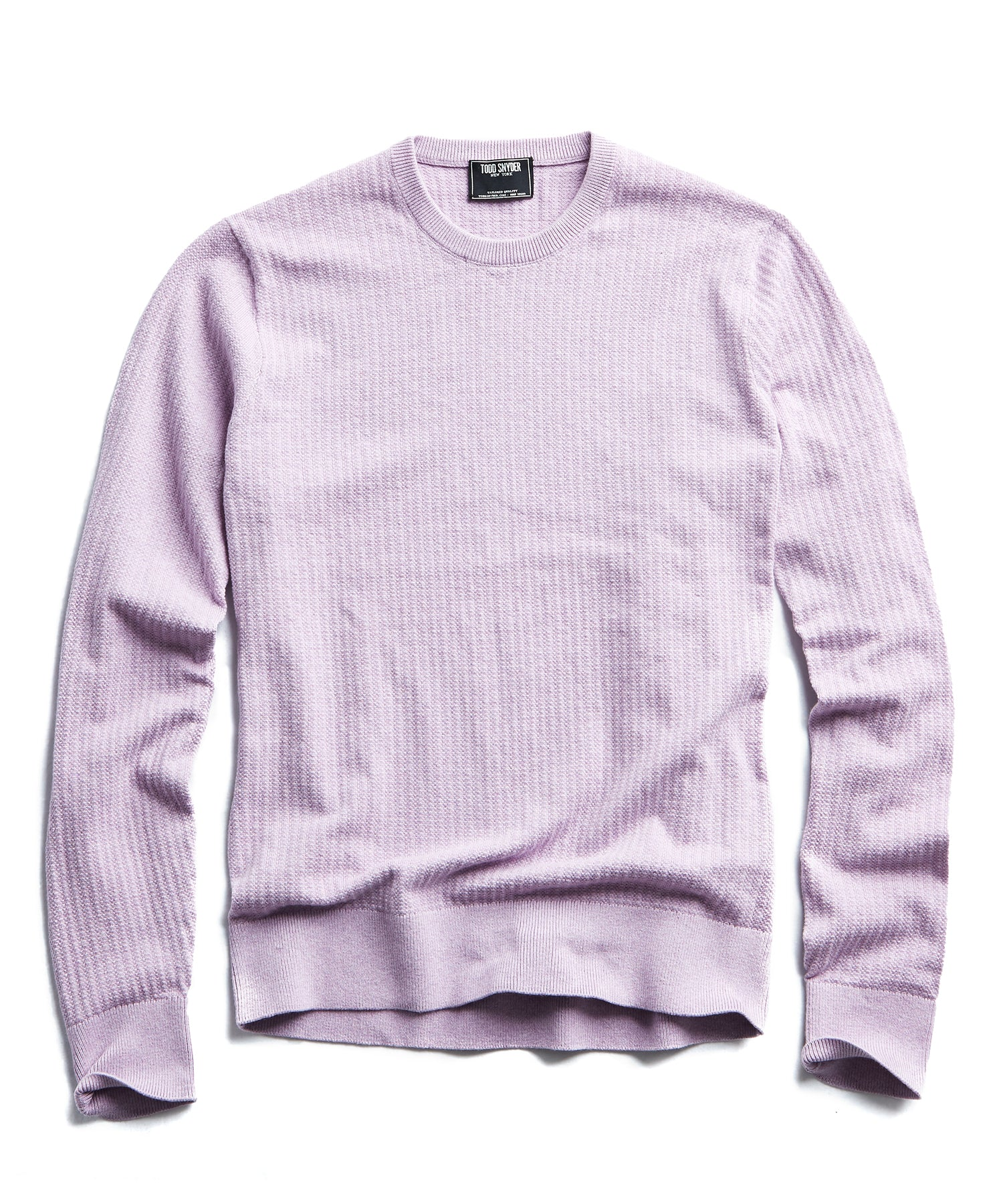 Cotton Crewneck in Purple