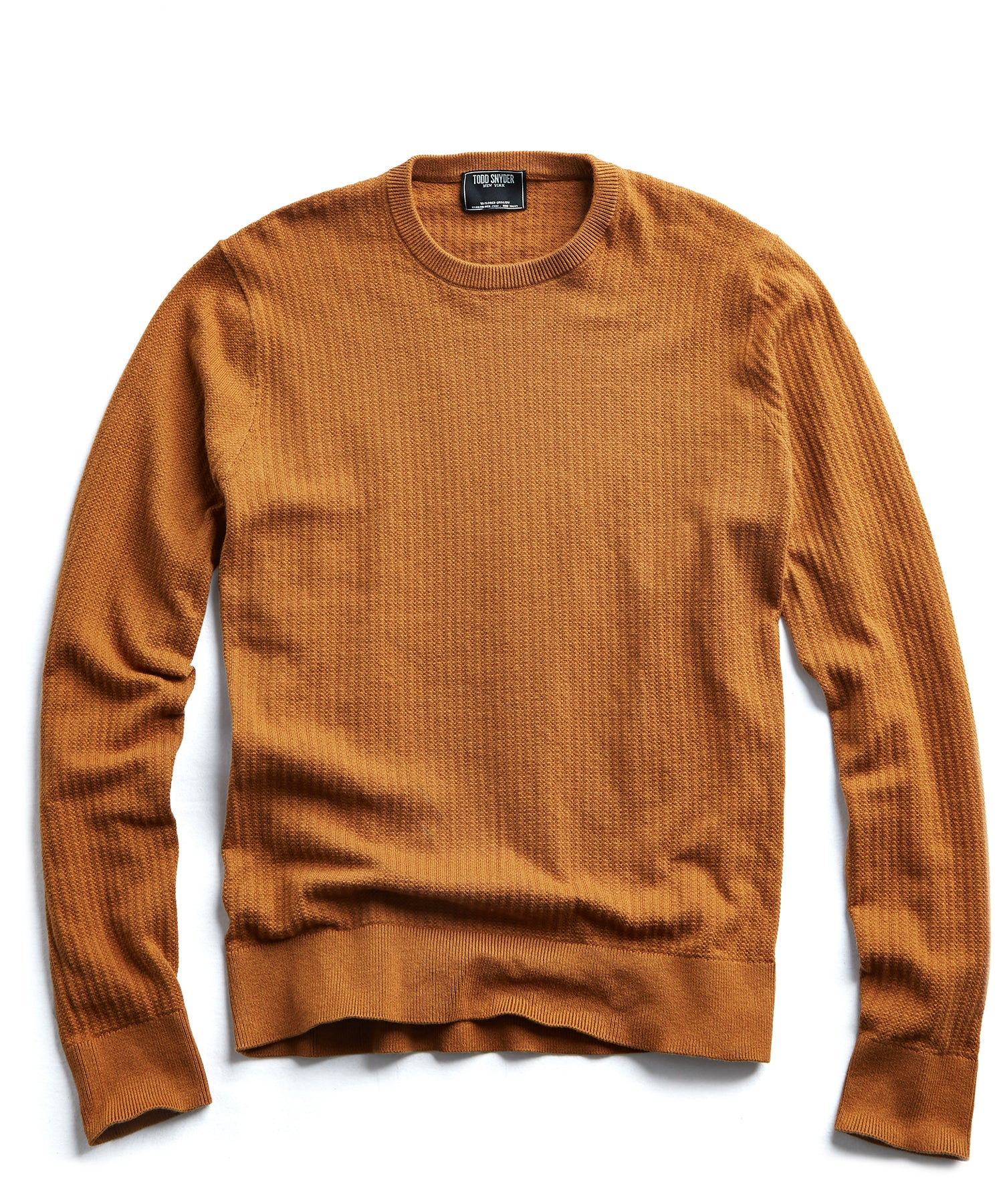 Cotton Crew Neck in Mustard
