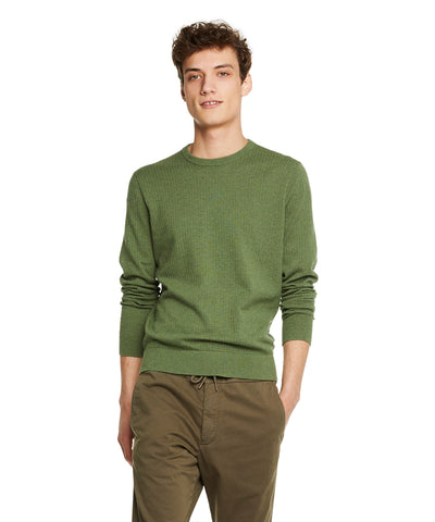 Cotton Crew Neck in Thyme
