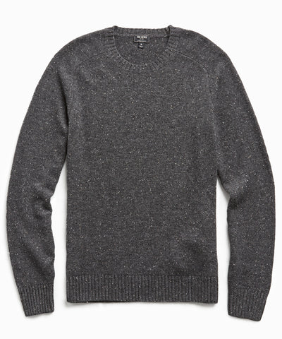 Cashmere Donegal Crew in Charcoal