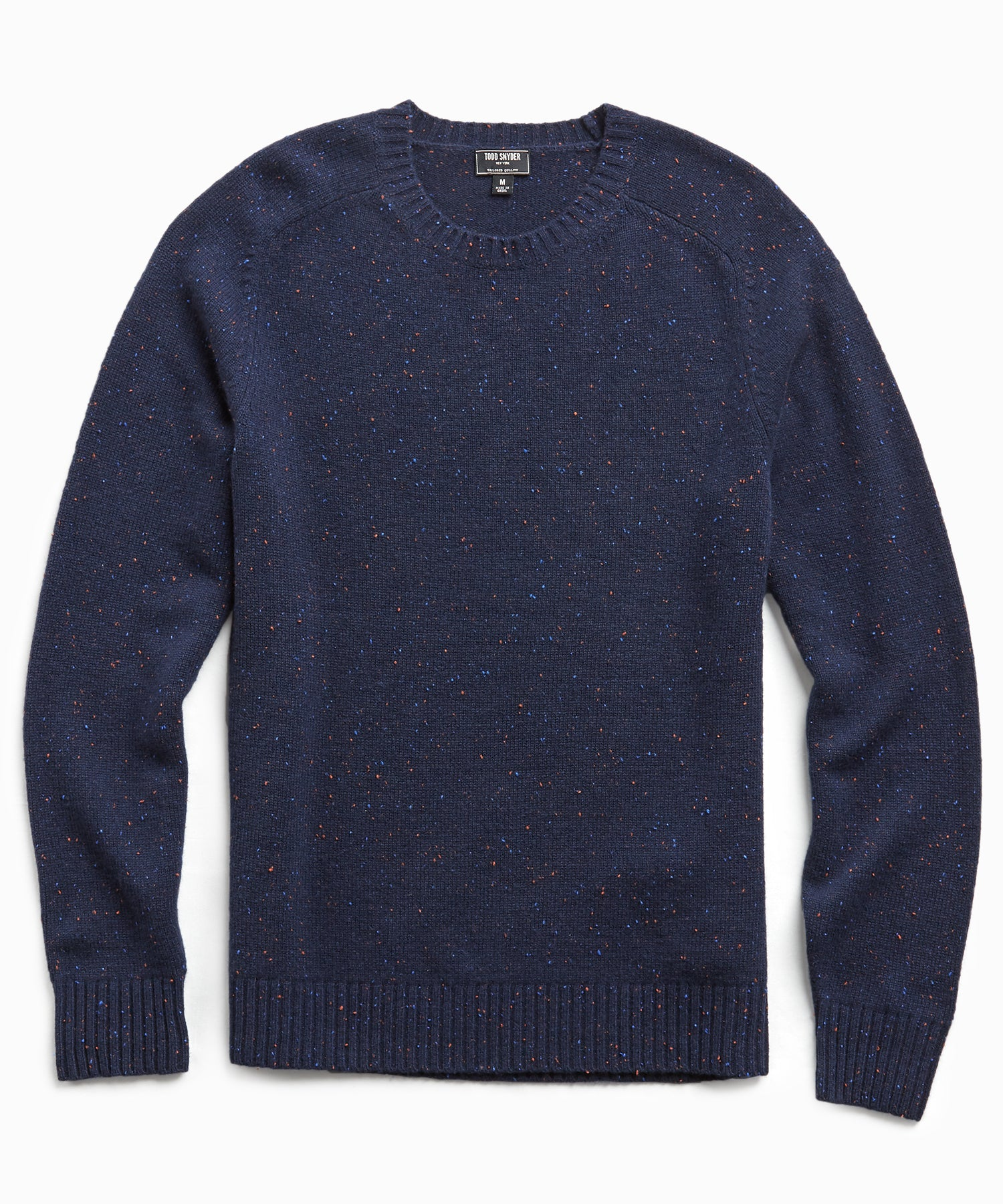 Cashmere Donegal Crew in Navy