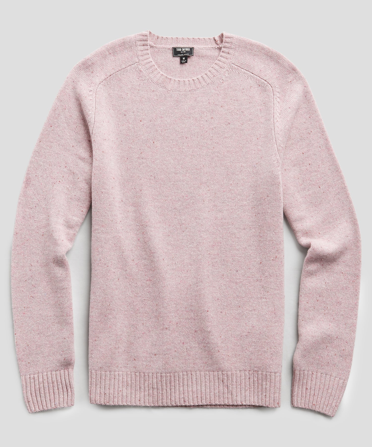 Cashmere Donegal Crew in Pink