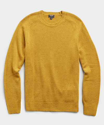 Cashmere Donegal Crew In Yukon Gold