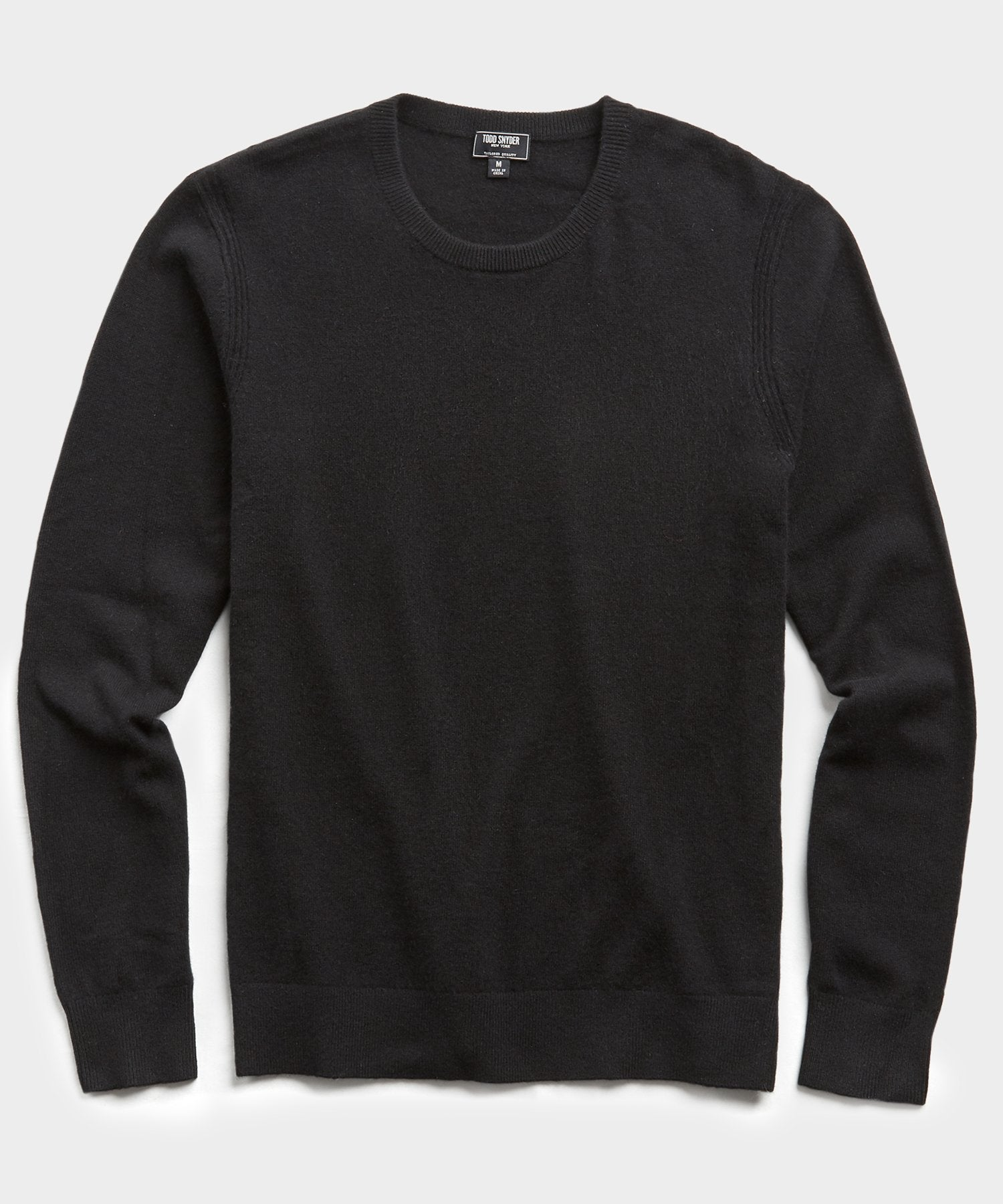Cashmere Crewneck in Black