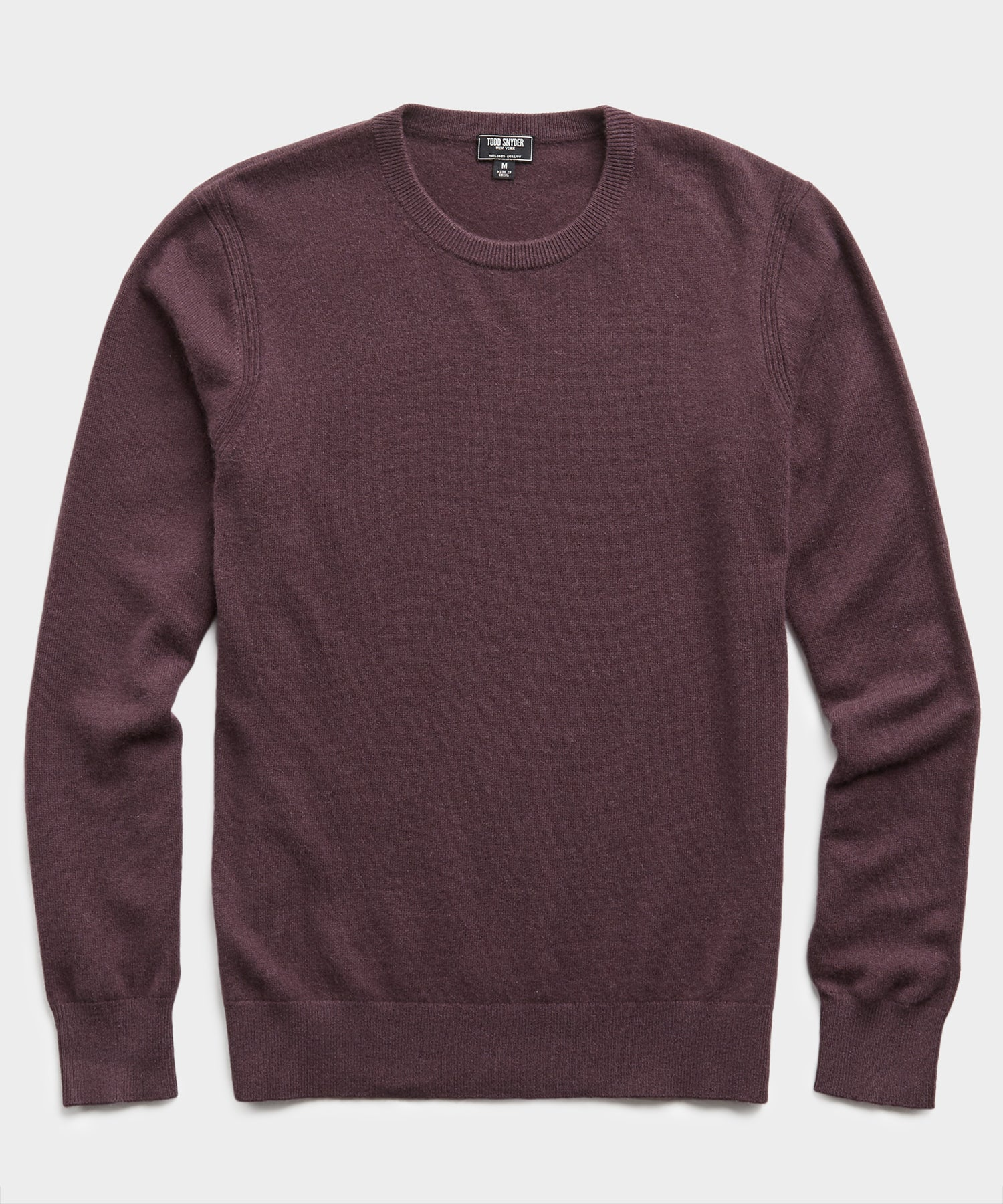 Cashmere Crewneck Sweater in Plum