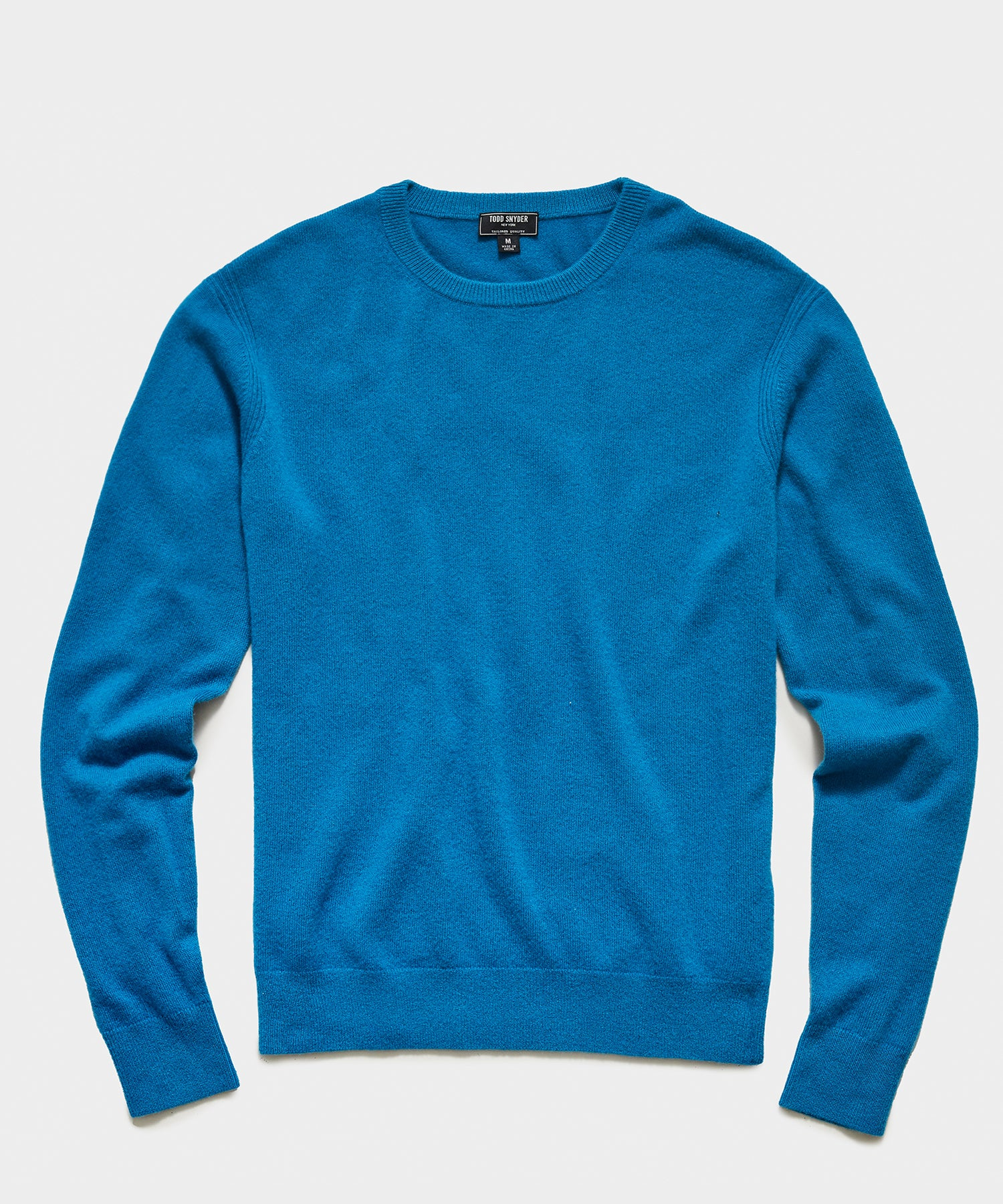 Cashmere Crewneck Sweater in Electric Blue
