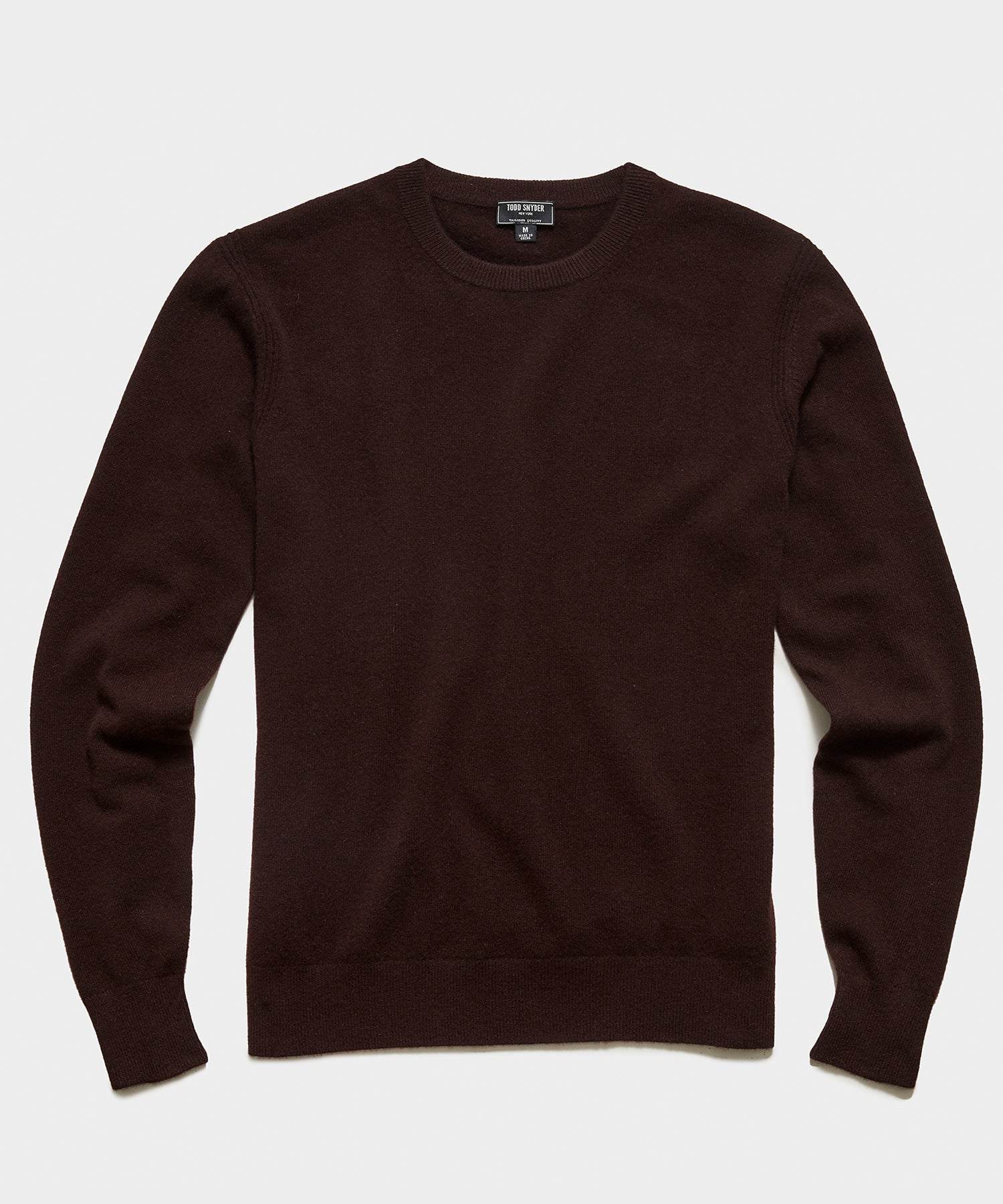 Cashmere Crewneck Sweater in Burgundy