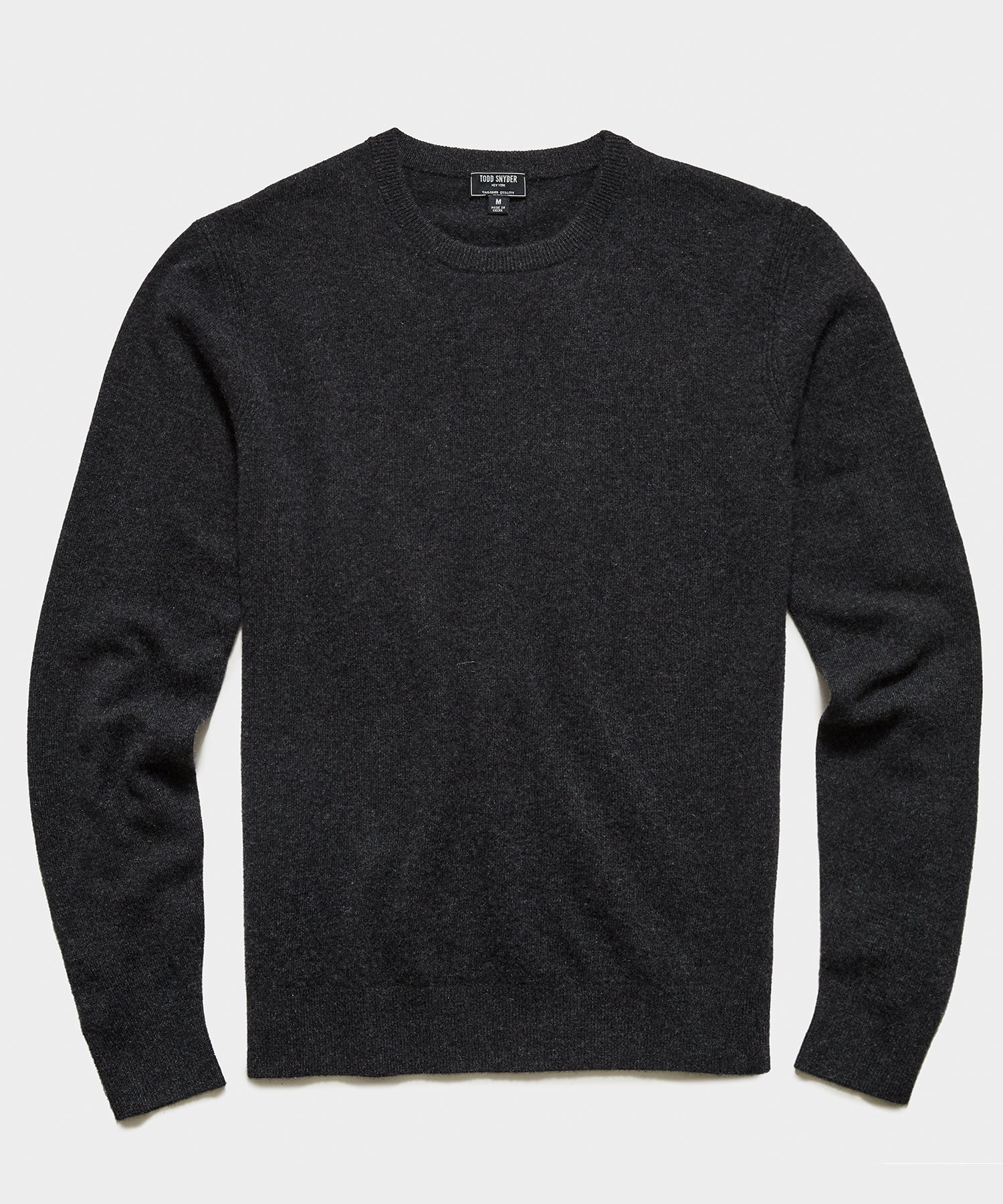 Cashmere Crewneck in Charcoal