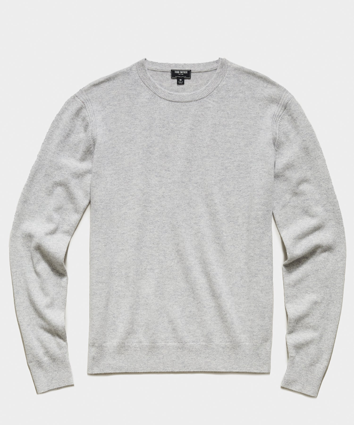 Cashmere Crewneck Sweater in Dove Grey
