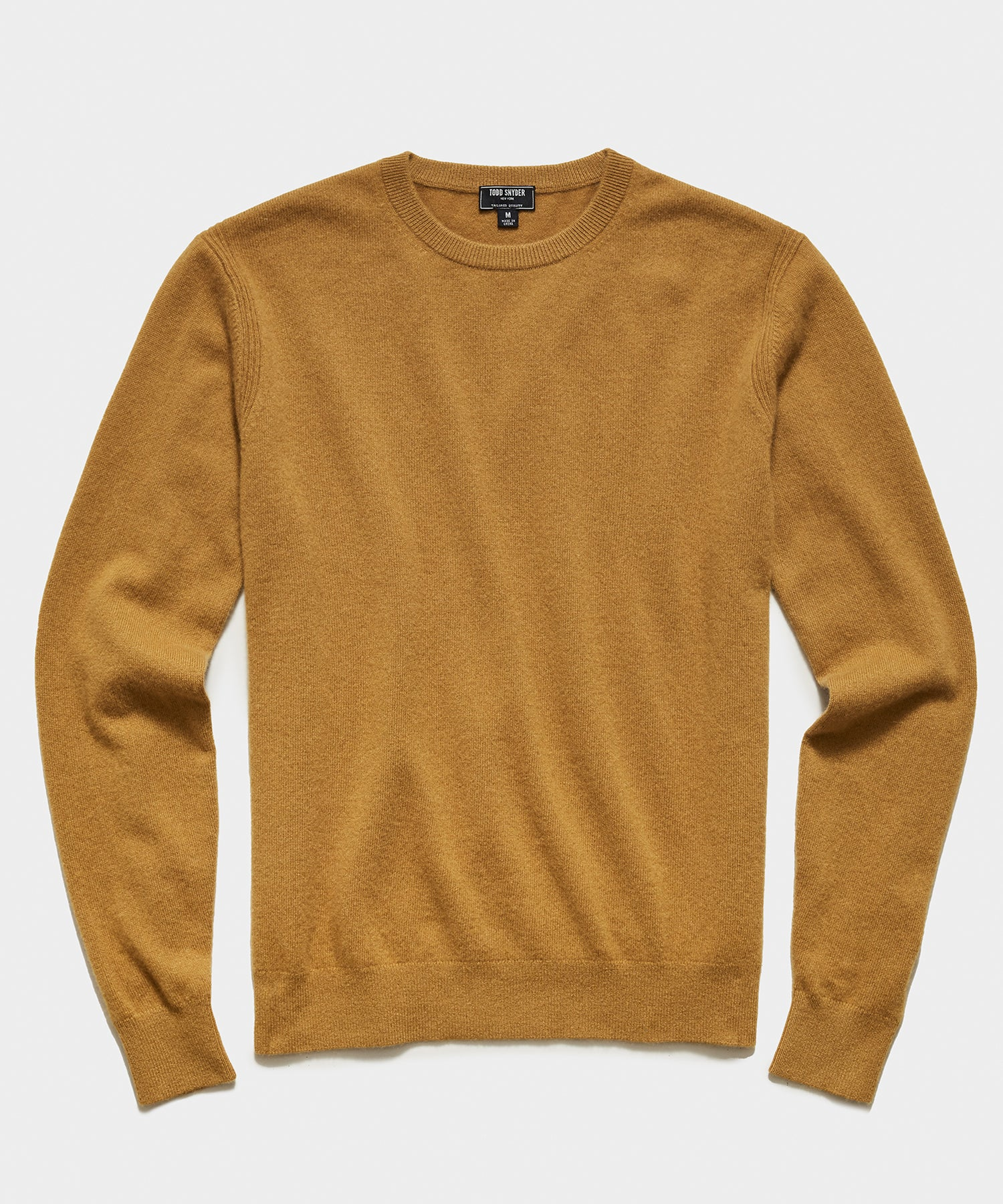 Cashmere Crewneck Sweater in Dark Honey