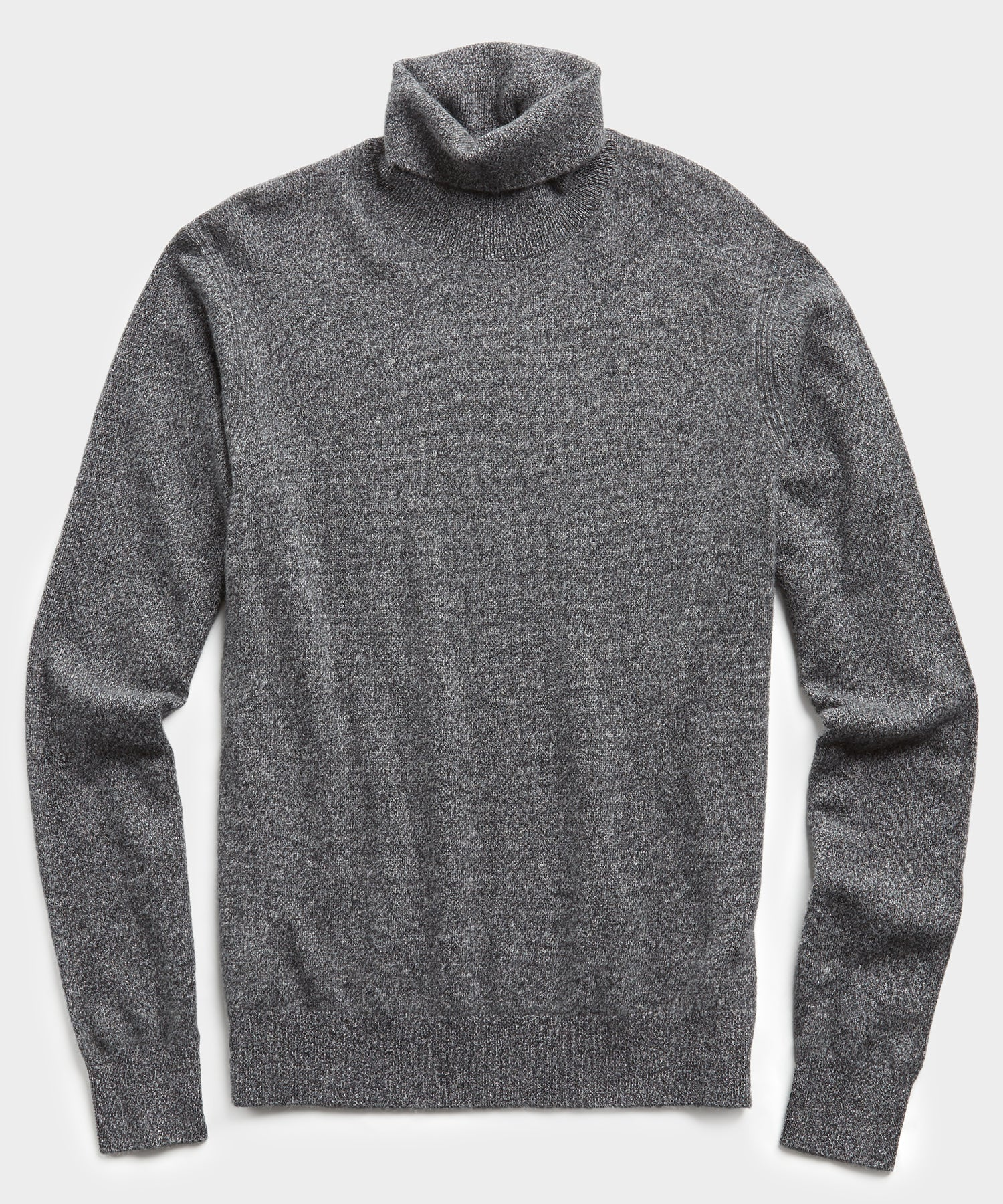 Marled Cashmere Turtleneck in Charcoal
