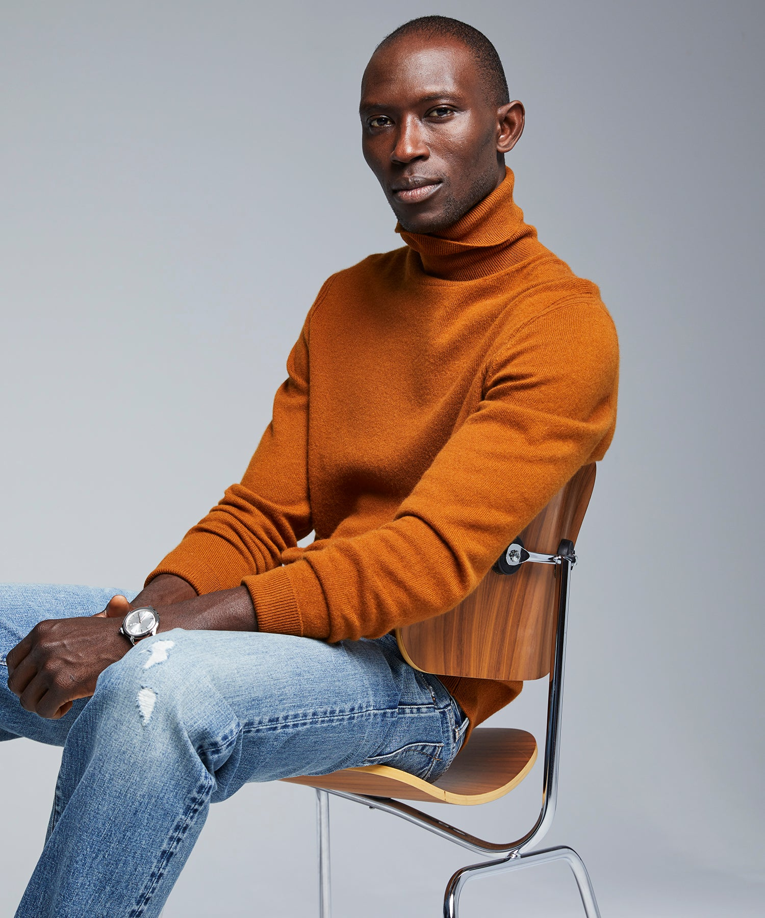 Cashmere Turtleneck in Chestnut