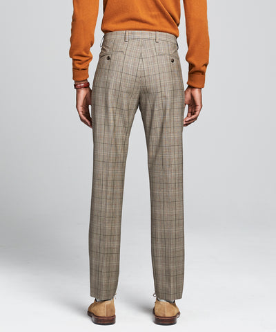 Sutton Glen Plaid Wool Trouser in Brown