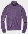 Cashmere Turtleneck in Heather Purple