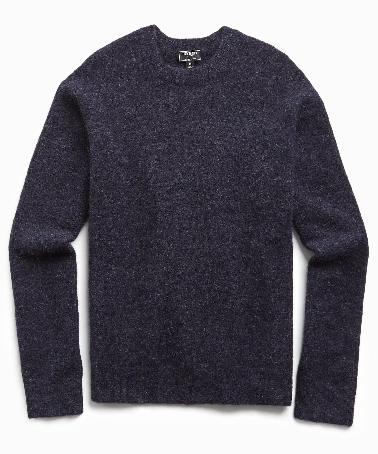 Solid Alpaca Crew in Navy