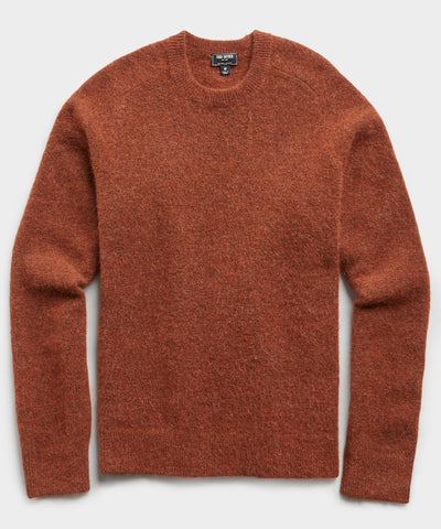 Solid Alpaca Crew in Brown Umber