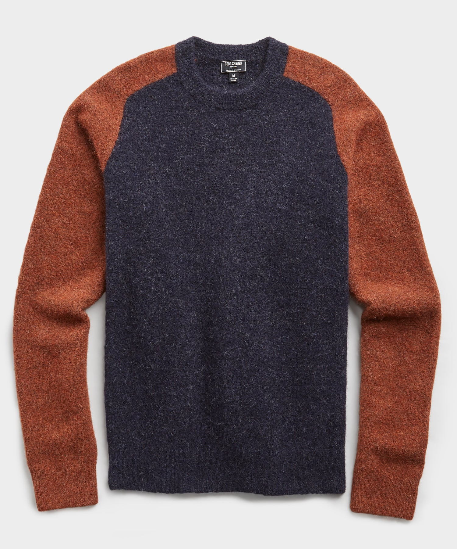 Colorblock Alpaca Crew in Navy