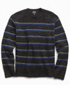 Alpaca Stripe Crew in Black