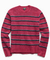 Alpaca Stripe Crew in Pink