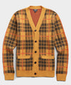 Scotch Plaid Cardigan in Yukon Gold