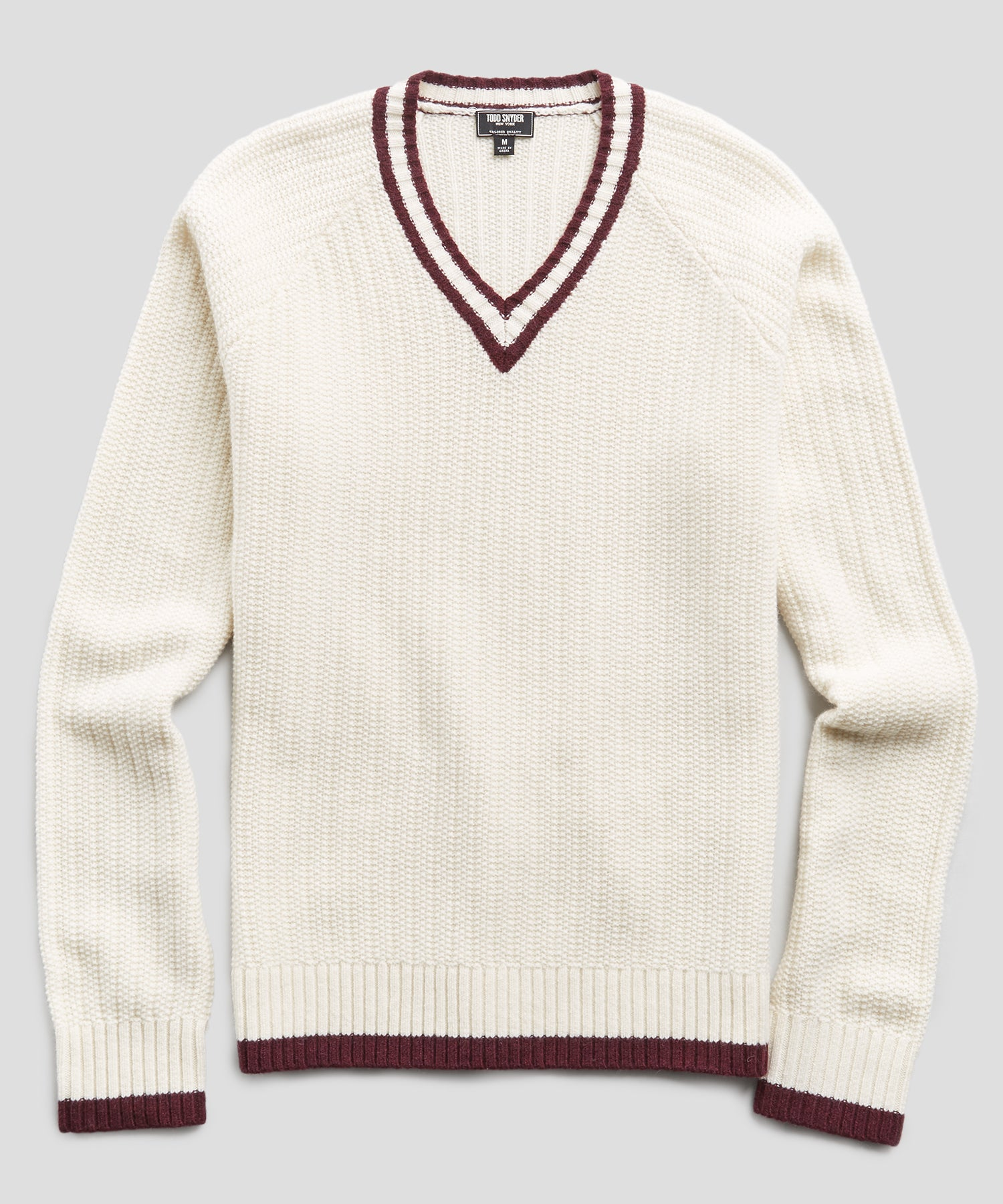 Merino Cricket Sweater in Cream