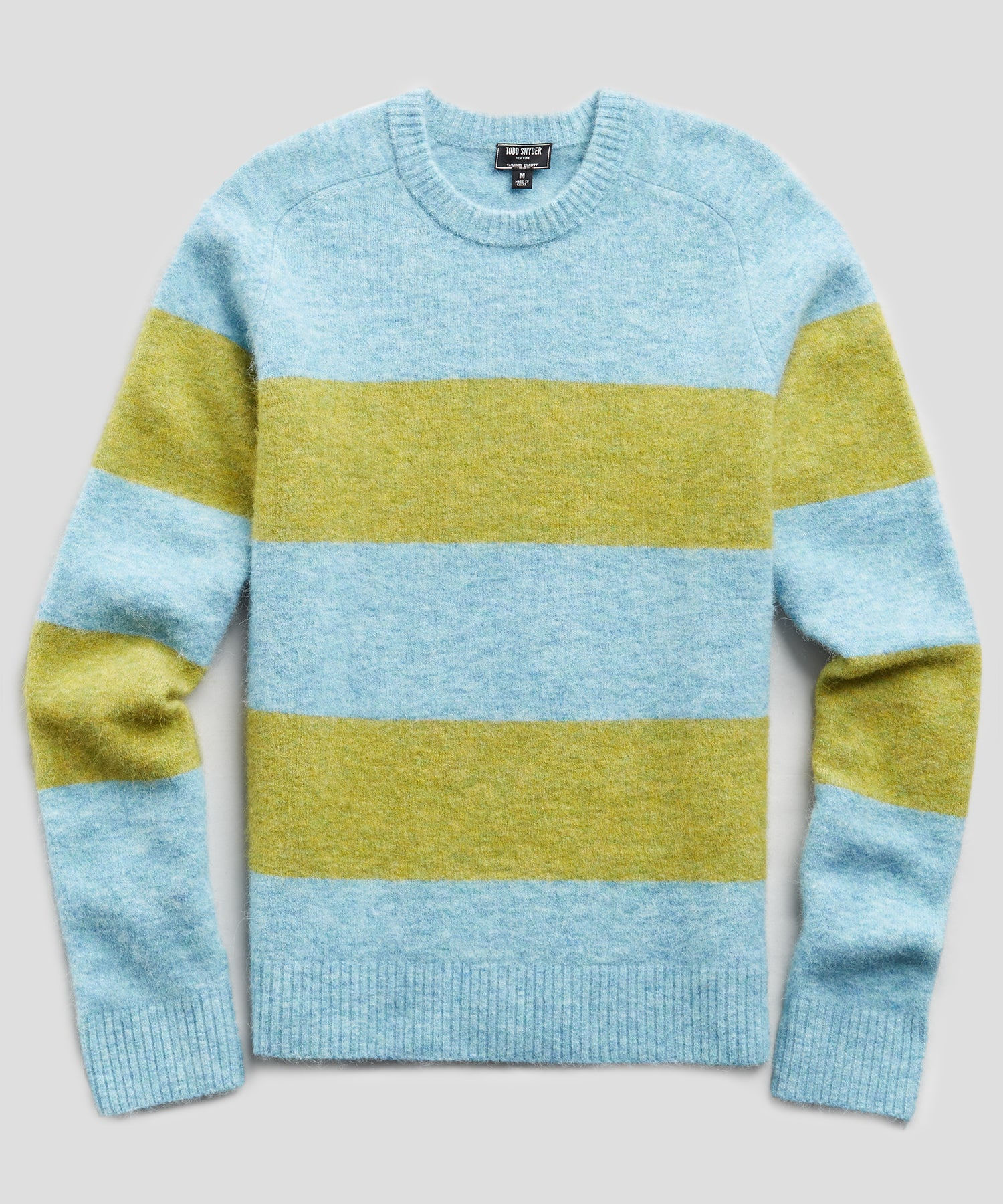 Bold Alpaca Stripe Crew in Yellow