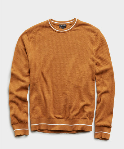 Textured Tipped Sweater in Chestnut